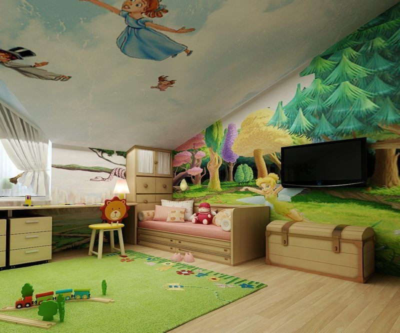 Fresque Murale Dans La Chambre D Enfant 35 Dessins Joviaux