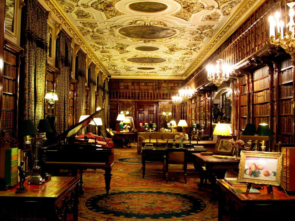 Classic home library library reading books home for Classic home library