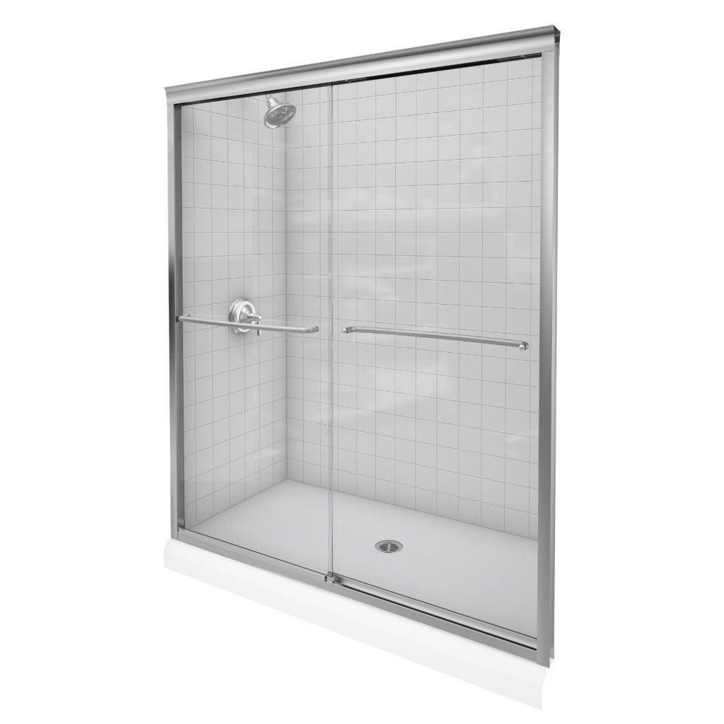 tub shower door bottom guide