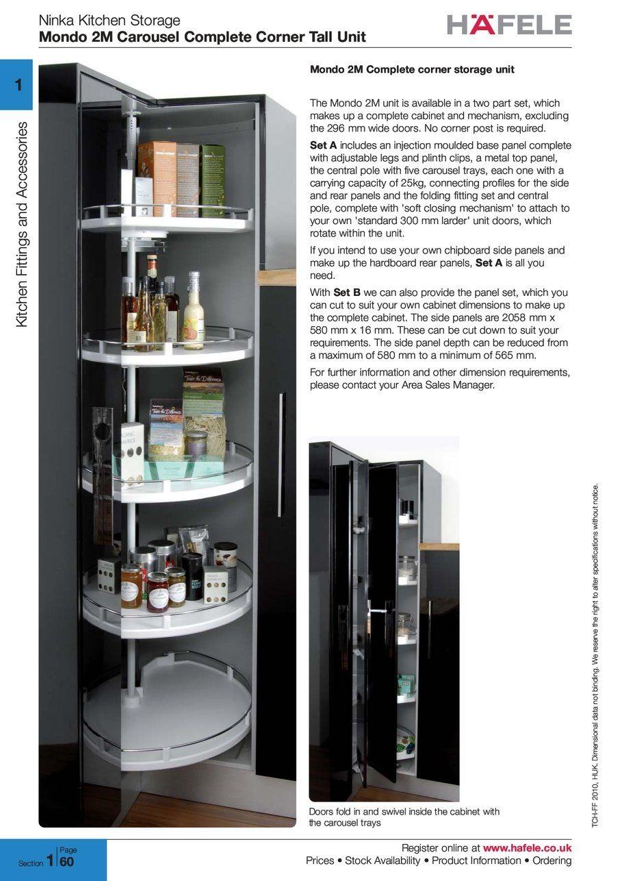 Kitchen Cabinet Carousel Corner Ninka Kitchen Storage Mondo Carousel Complete Corner Tall Unit