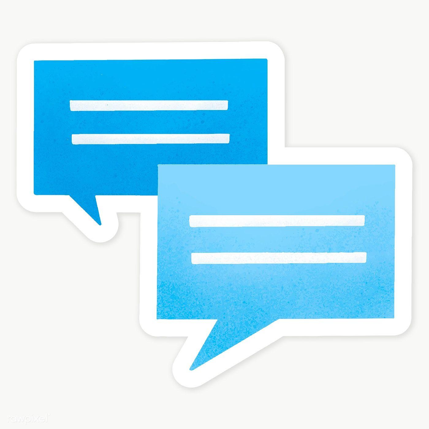 Blue Chat Box Social Media Template Transparent Png Premium Image By Rawpixel Com Aum Social Media Template Social Media Icons Vector Social Media