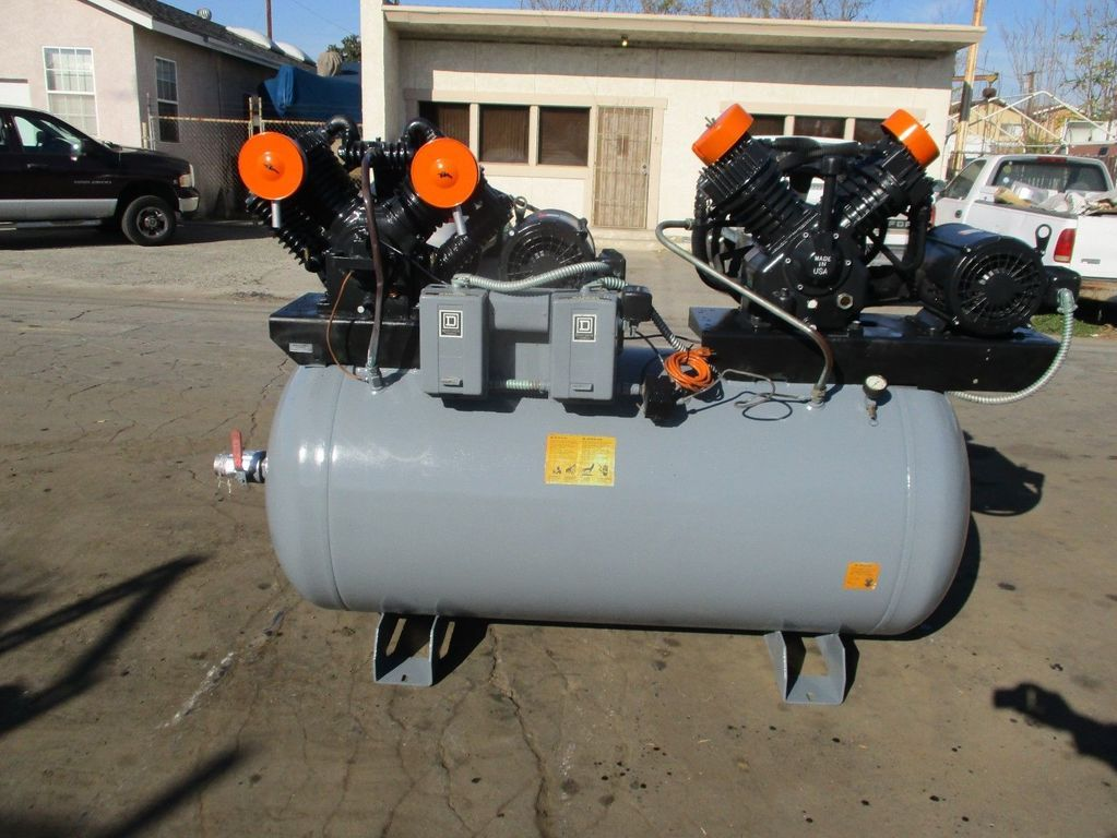 Speedaire duplex air compressor (2) 10hp,72cfm, cast iron