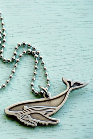 Humpback Whale Charm Necklace by Susie Ghahremani / boygirlparty.com