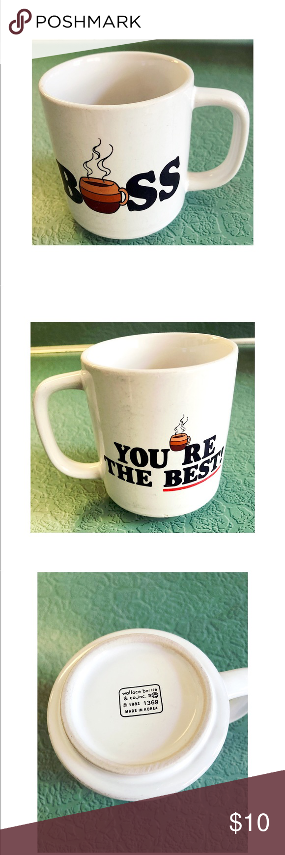 "Vintage Best Boss Coffee Mug Vintage / Retro ""you're the best boss"" graphic novelty coffee cup. Wallace Berrie & Co Inc. used vintage condition. Vintage Kitchen Coffee & Tea Accessories #bosscoffee Vintage Best Boss Coffee Mug Vintage / Retro ""you're the best boss"" graphic novelty coffee cup. Wallace Berrie & Co Inc. used vintage condition. Vintage Kitchen Coffee & Tea Accessories #bosscoffee Vintage Best Boss Coffee Mug Vintage / Retro ""you're the best boss"" graphic novelty co #bosscoffee"
