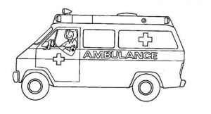 Coloring Picture Ambulance