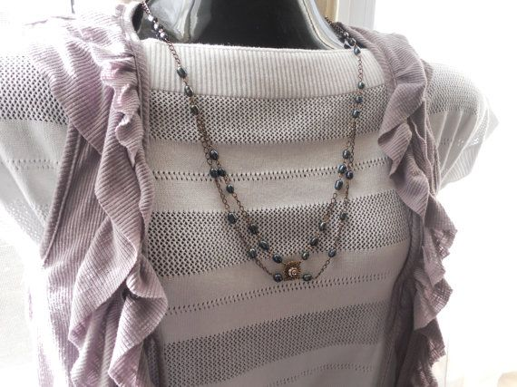 Unique pearl linked necklace by SunshinesPush on Etsy, $42.00
