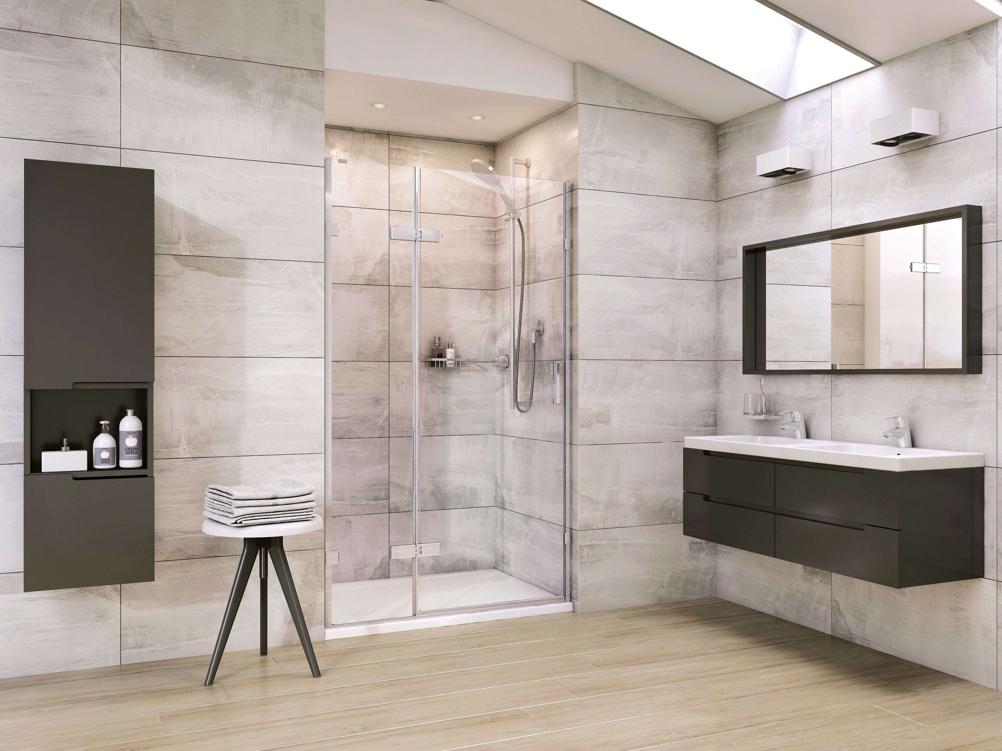 Liber8 8mm Thick Glass Frameless Hinged Door Shower
