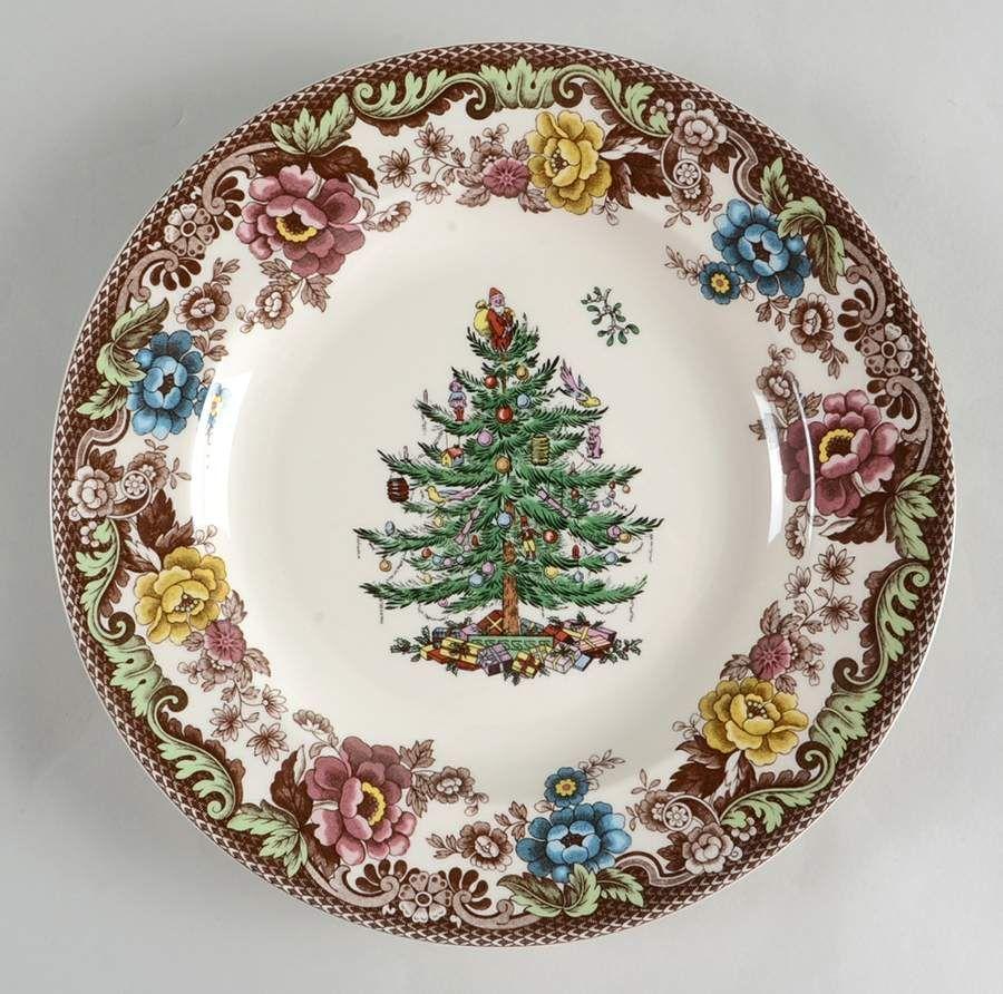 Christmas Tree Grove Dinner Plate By Spode