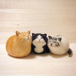 """1,031 Likes, 65 Comments - mako (@mosscat25) on Instagram: """"ころりんねこ 実家猫3匹。今はトラしかいないけど、こうやって並べるとやっぱりしっくりくるな〜^_^ #cat #gingercat #bicolorcat #silvertabby #トラ猫…"""""""