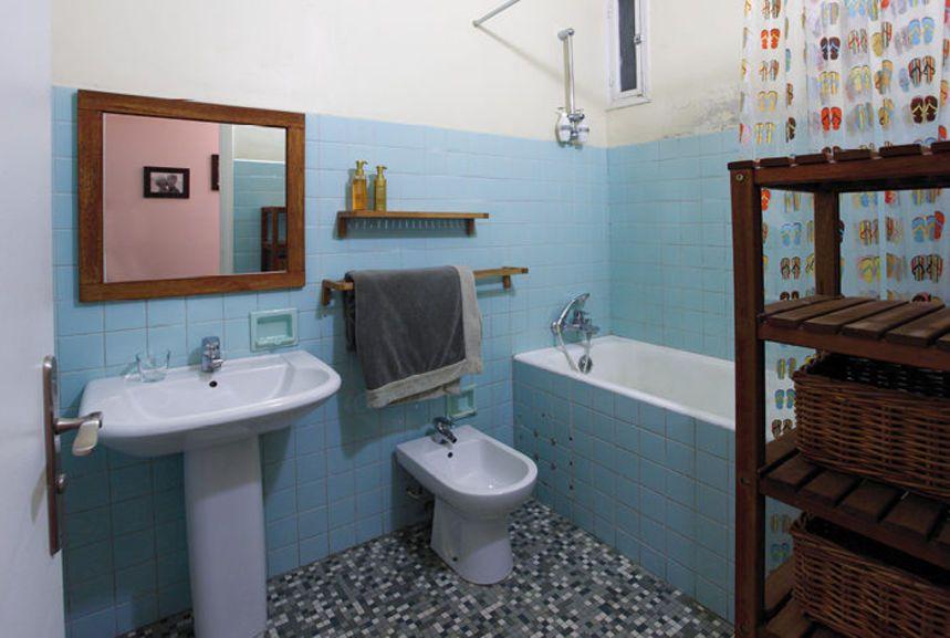Masqu\'carrelage Salle de bain Avant   douche   Pinterest ...
