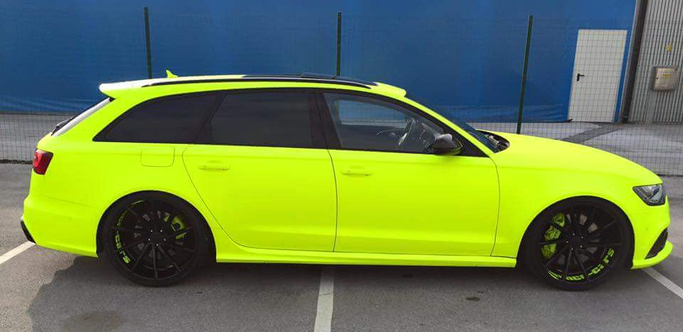Fluorescent Yellow Neon Audi Rs6 Audi Rs6 Audi Rs3