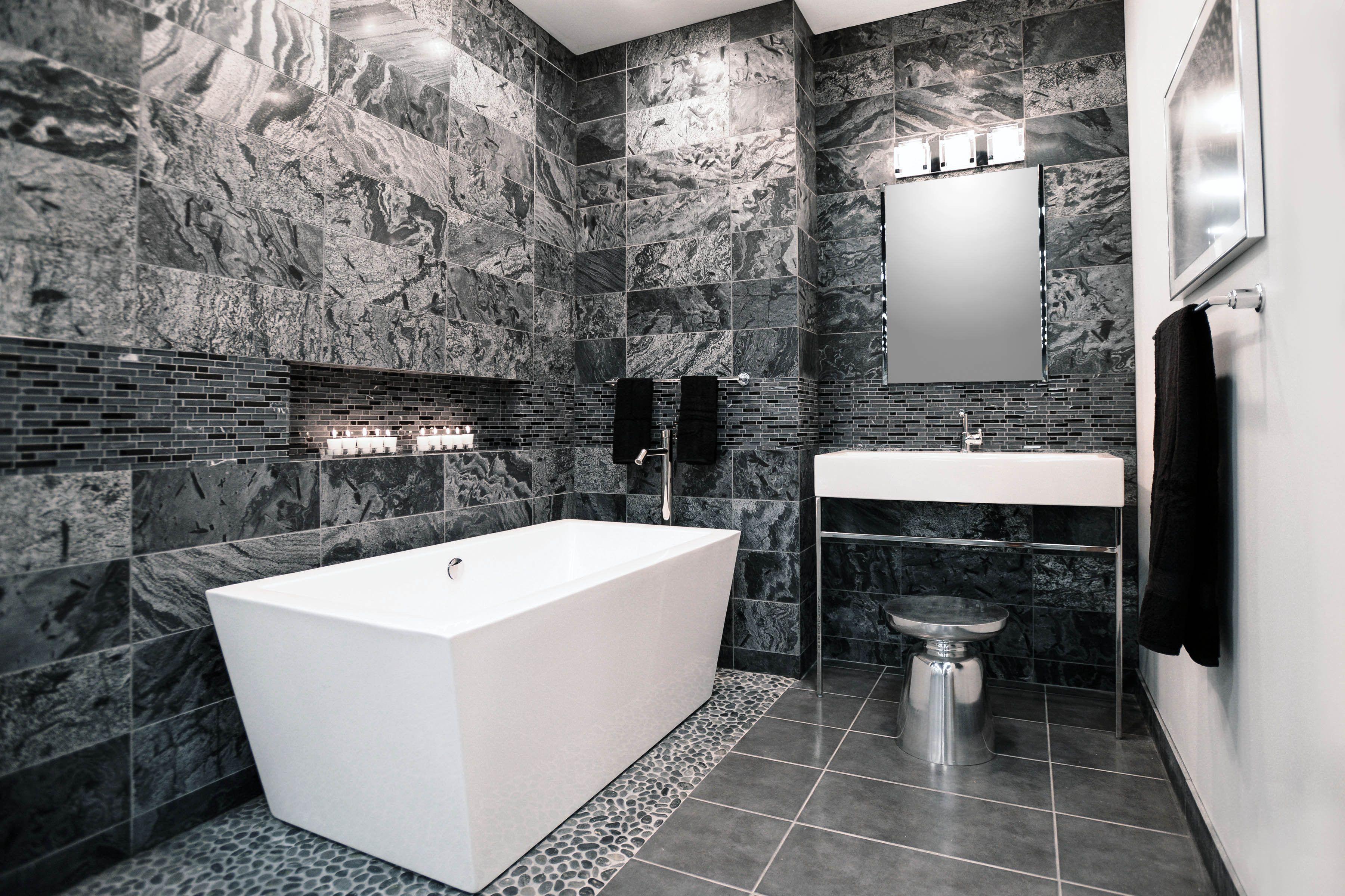 Black And Grey Bathroom Ideas Bathrooma, Black And Silver Bathroom