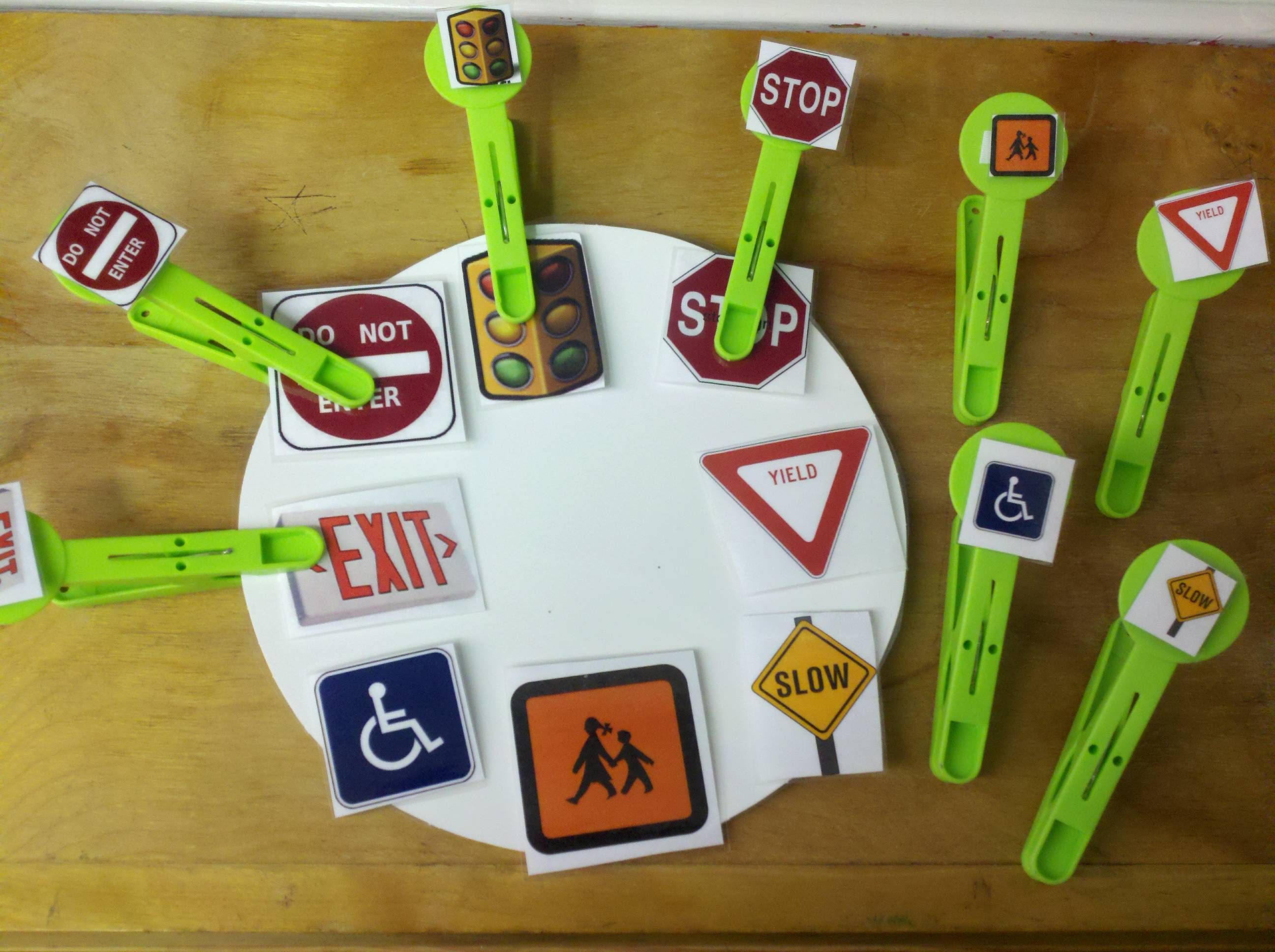 Love This Idea For A Matching Activity Great Way To Work On Signs And Make It More Functional