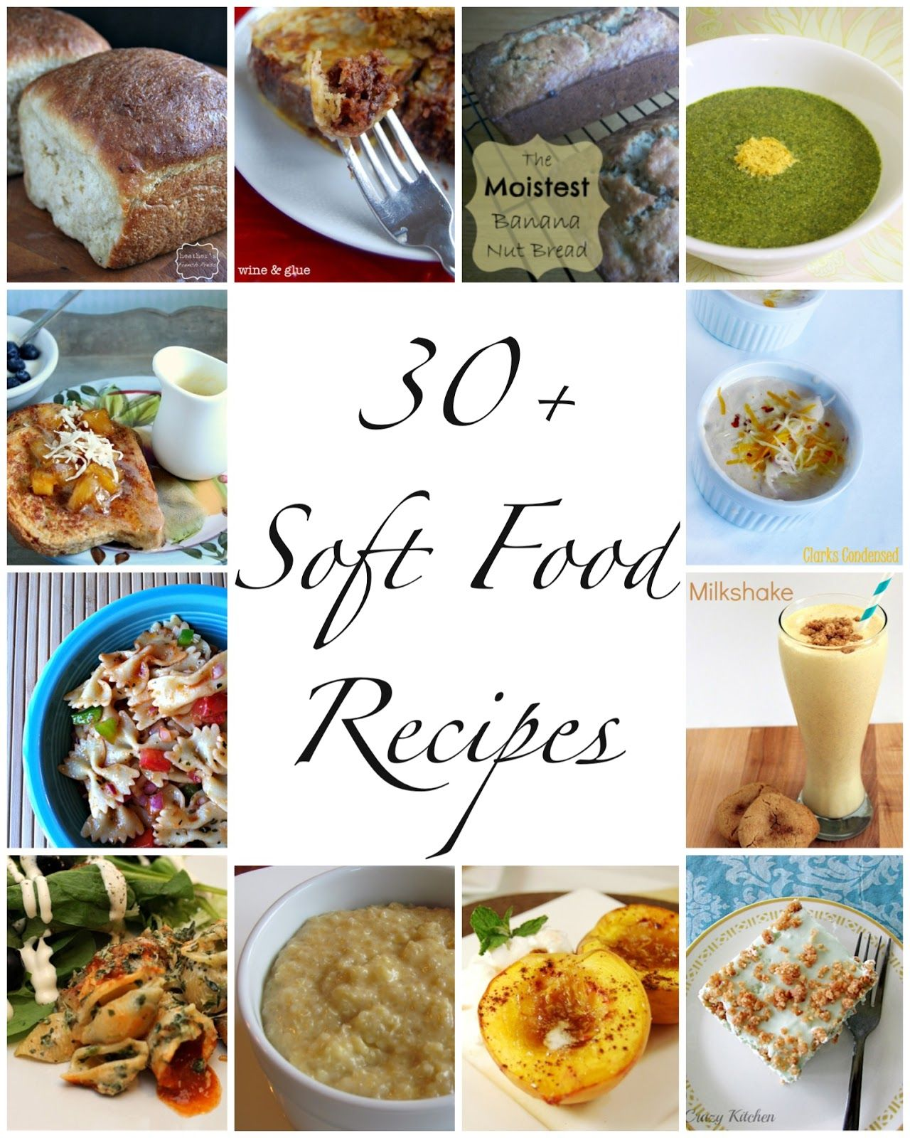 30+ Soft Food Recipes Pureed food recipes, Soft foods