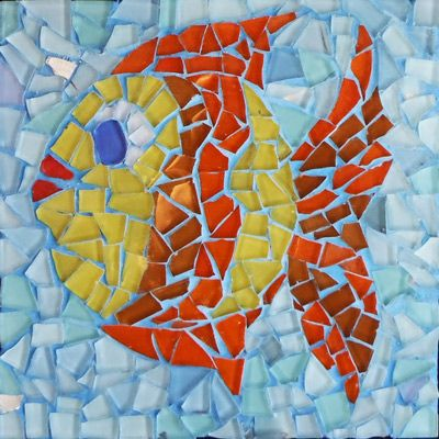 Fish mosaic kit arte para ni os pinterest mosaic for Roman mosaic templates for kids