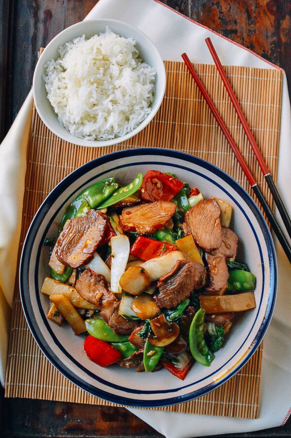Roast Pork With Chinese Vegetables Recipe Chinese Vegetables Chinese Dishes Food