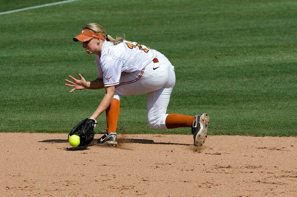 UT vs. New Mexico. Taylor Thom fielding a ground ball at short stop (Photo by Jesse Drohen)