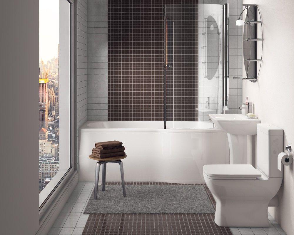Bathroom Suite With Shower Bath Synergy Regent Modern Configurable Modern Bathroom Contemporary Shower Complete Bathrooms