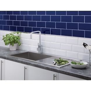 Kitchen Tiles Homebase metro blue wall tile homebase | club hotel | pinterest | blue