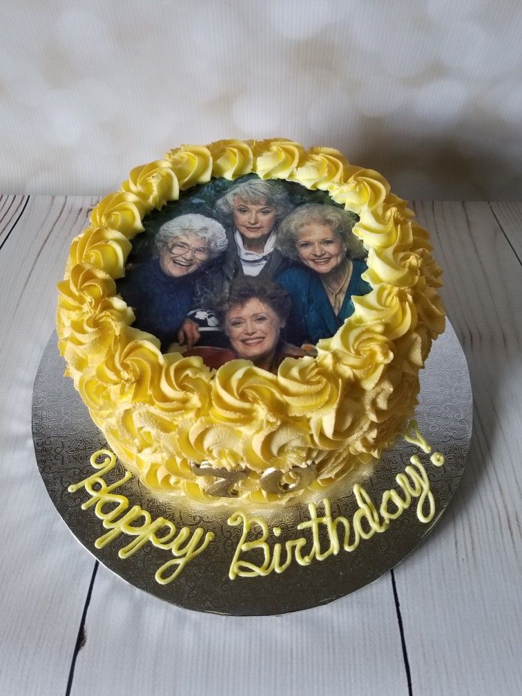 Golden Girls Cake Edible Image Replace With Our Pictures