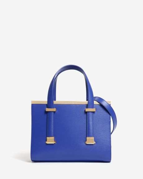 7f090f1d7 Small crosshatch leather tote bag - Blue