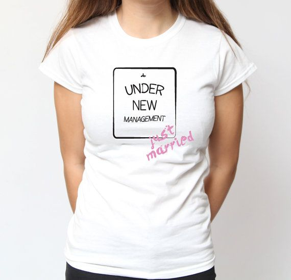 4a256e5f85af Just Married Women's T-Shirt. Funny, Humour, Cute, Newlyweds, Honeymoon,  Wedd