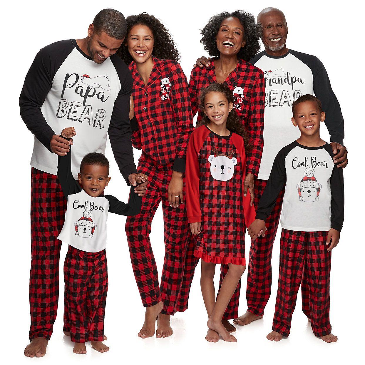 Men Set Seasonal PJs Adult Christmas Jammies Kids Women Holiday Family Matching Pajamas Red Nordic
