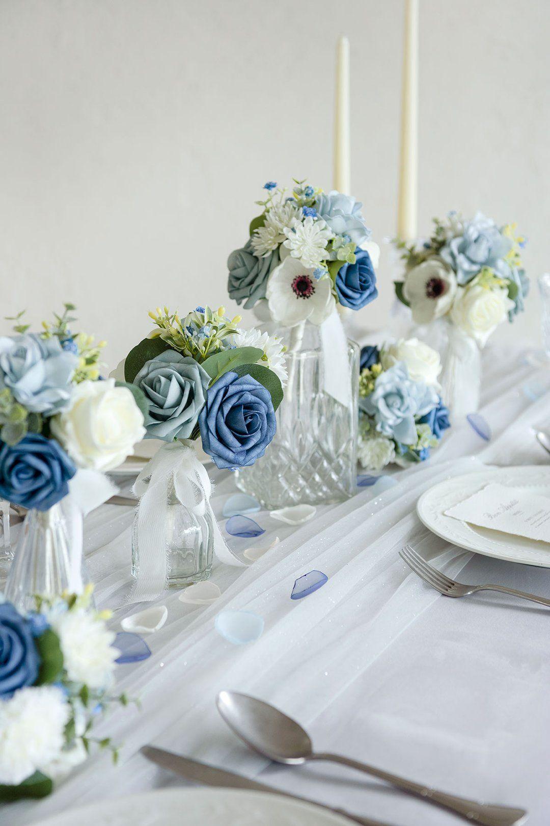 18+ Dusty blue wedding centerpieces inspirations