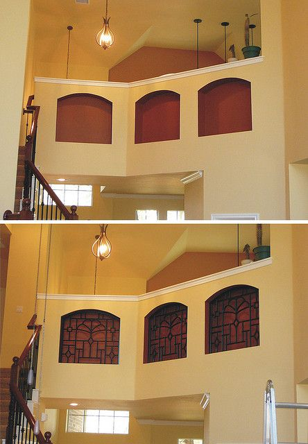 Wall Niche Faux Iron Decor Before After Niche Decor Wall