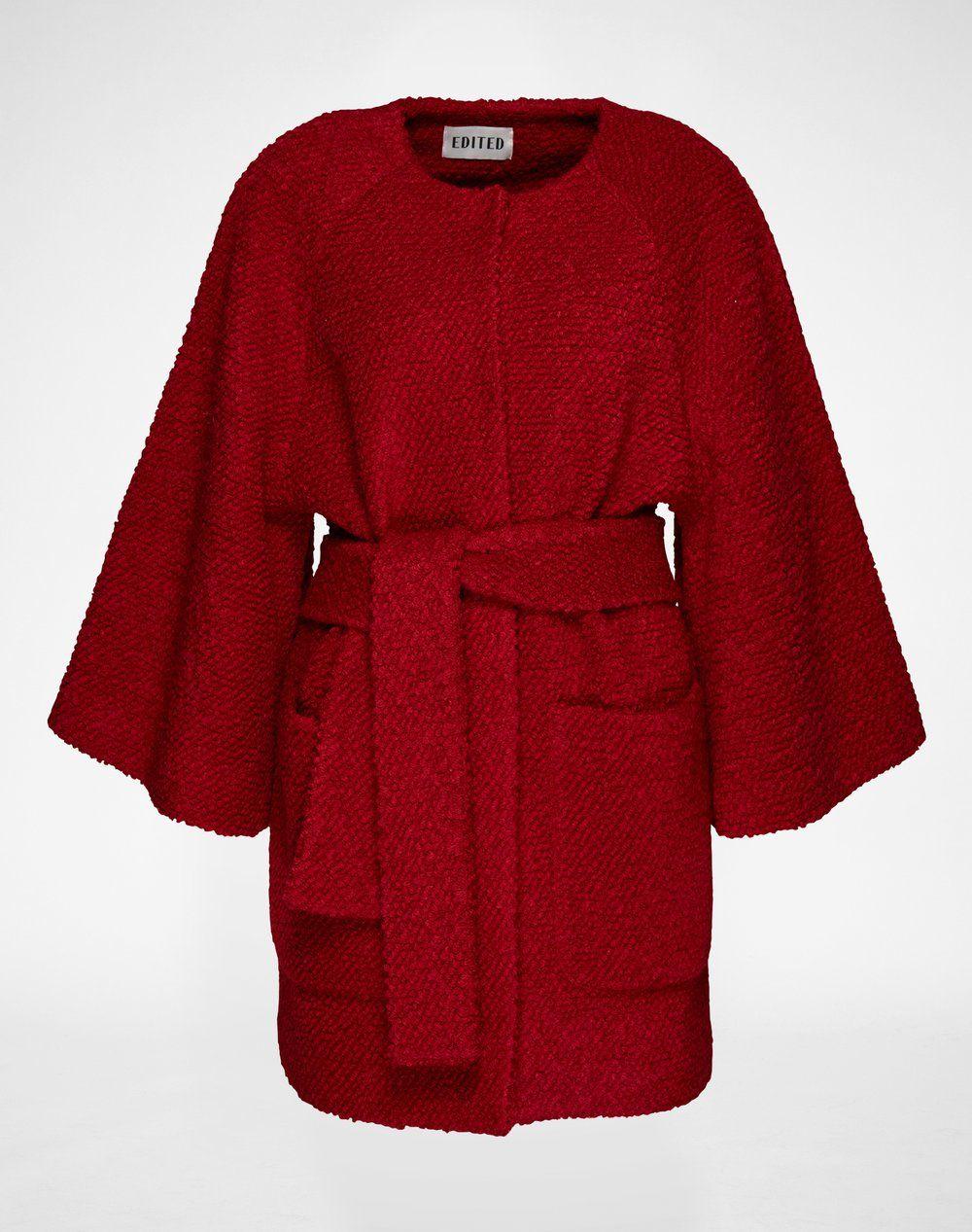 Dieser Stylishe Boucle Mantel Aus Wollmix Georgy Von Edited Gibt Dir Einen Guten Grund Dich Auf Die Kuhleren Monate Zu Freuen Boucle Mantel Modestil Mantel