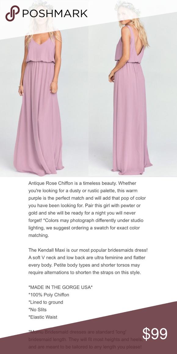 6281ded5411 Show Me Your Mumu Kendall Maxi Dress NWT Show Me Your Mumu Kendall maxi  dress in antique rose. New with tags. Show Me Your MuMu Dresses