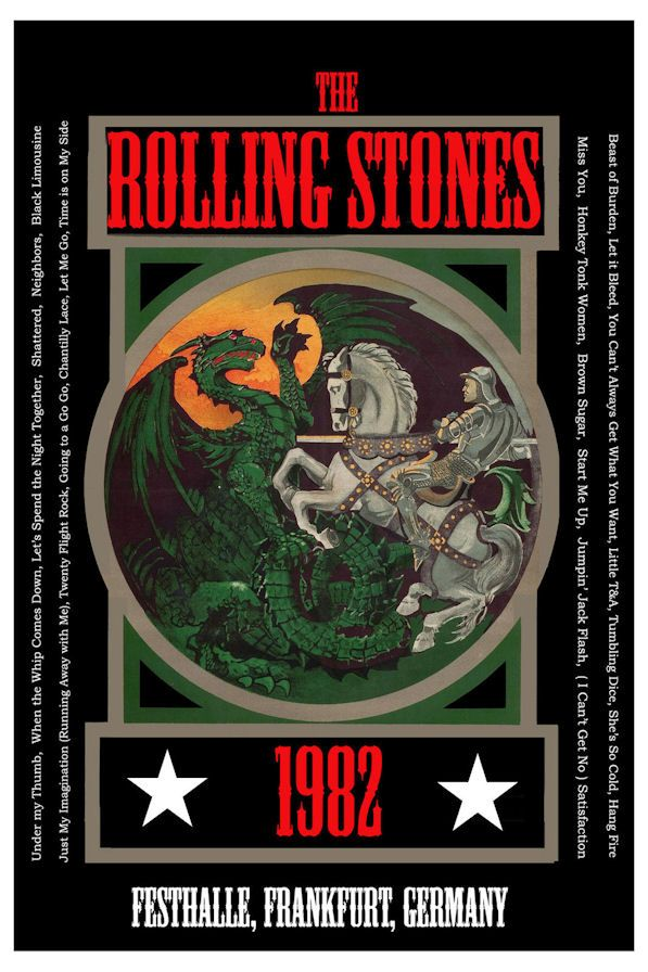 The Rolling Stones Concert Poster 1982 Germany • 100% Mint