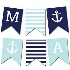 Nautical Banner | Nautical banner, Printable banner, Banner