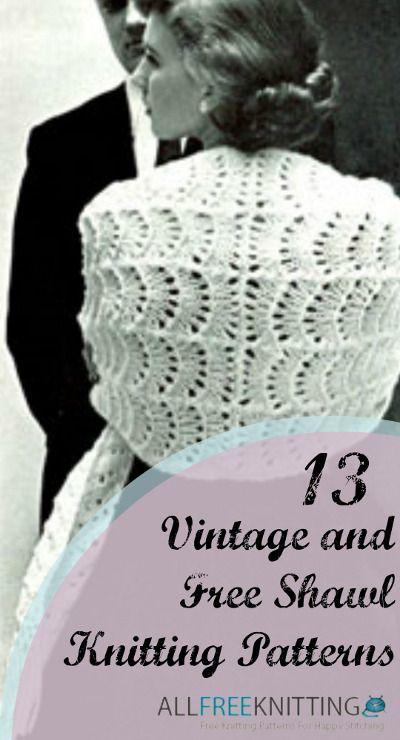 13 Vintage And Free Shawl Knitting Patterns Handwork Knitting