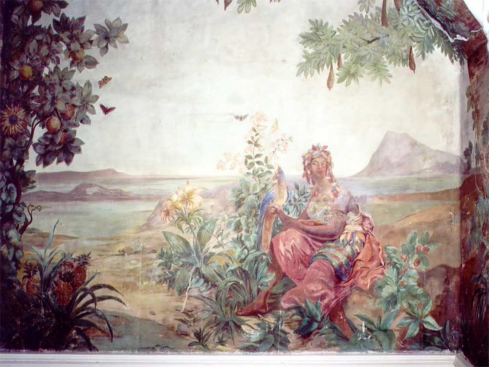 Bergl frescoes in the Upper Castle St. Vitus