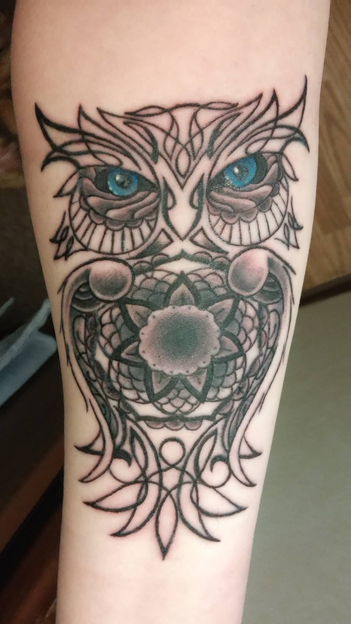 Owl By Mike Oz Mellow Madness Tattoo Parlor In Rochester Ny