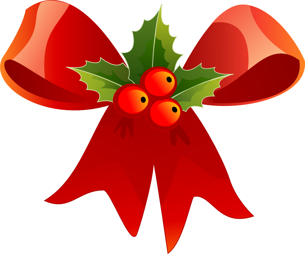 christmas red bow and holly clip art clip art christmas 1 rh pinterest com christmas holly clipart no background clipart christmas holly berries