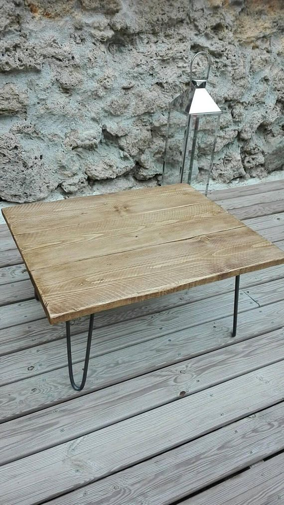 Table low industrial Scandinavian spirit | Esprit scandinave, Table ...