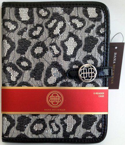 Dana Buchman Black Pewter Luxury Designer Deluxe Protective eReader Cover for Kindle Fire or iPad Mini Dana Buchman.