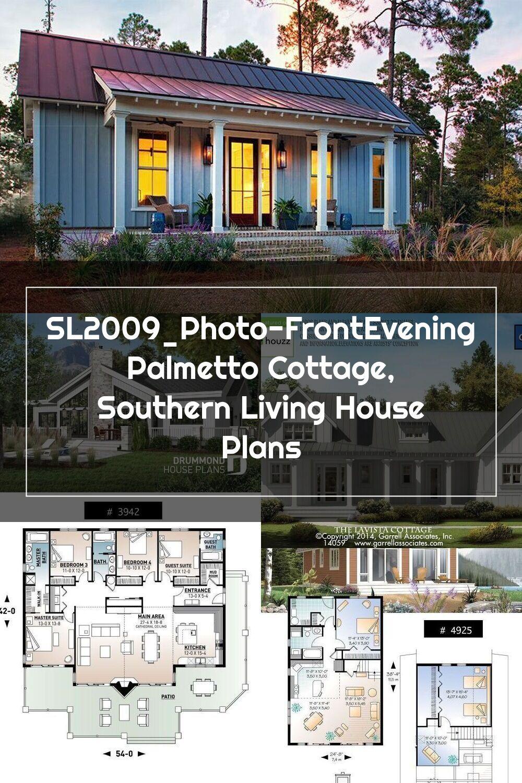 Sl2009 Photo Frontevening Palmetto Cottage Southern Living House Plans Southern Living House Plans House Plans Cottage House Plans