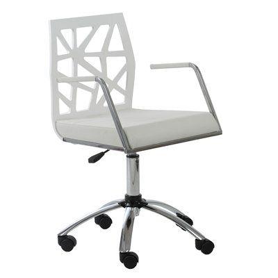 Eurostyle 2715 Sophia Office Chair Modern Office Chair White