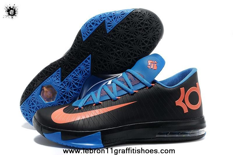 Nike Zoom KD 6 Black Royal Blue Crimson Shoes are cheap sale online. Buy  newest kd 6 black blue crimson shoes now!