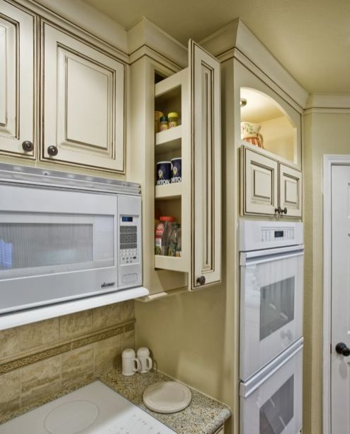 Jay Rambo Kitchen Cabinets: Pull Out Spice Cabinet Above, Away Form Range And Oven