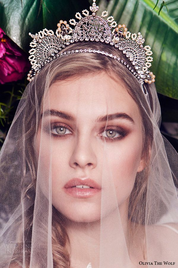 olivia the wolf headpieces 2016 bridal accessories delphine boho tiara  gorgeous wedding hair piece veil kokoshnik Russian empire inspired 799e3c85eccc