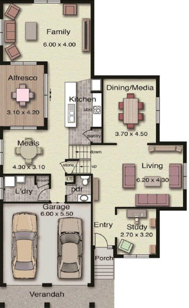 planos de casas de dos pisos grandes