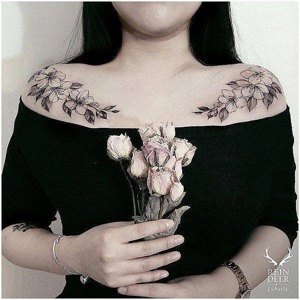 die Striche T-Shirt, Ärmel Tätowierung Blumen, Paar Liebe Tätowierungen, Fee und Mond ...