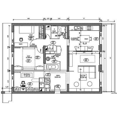 Redistribution fonctionnelle du0027un appartement de 100 m2