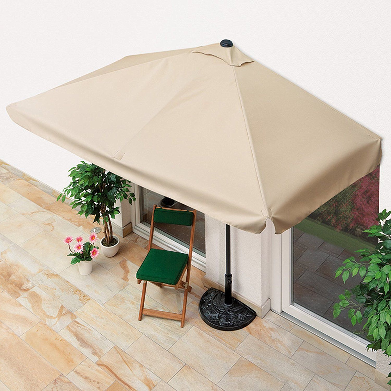 Amazon De Easymaxx Sonnenschirm Mit Uv Schutz Rechteckig 230x140cm Beige Parasol Rectangulaire Parasol Housse Salon De Jardin