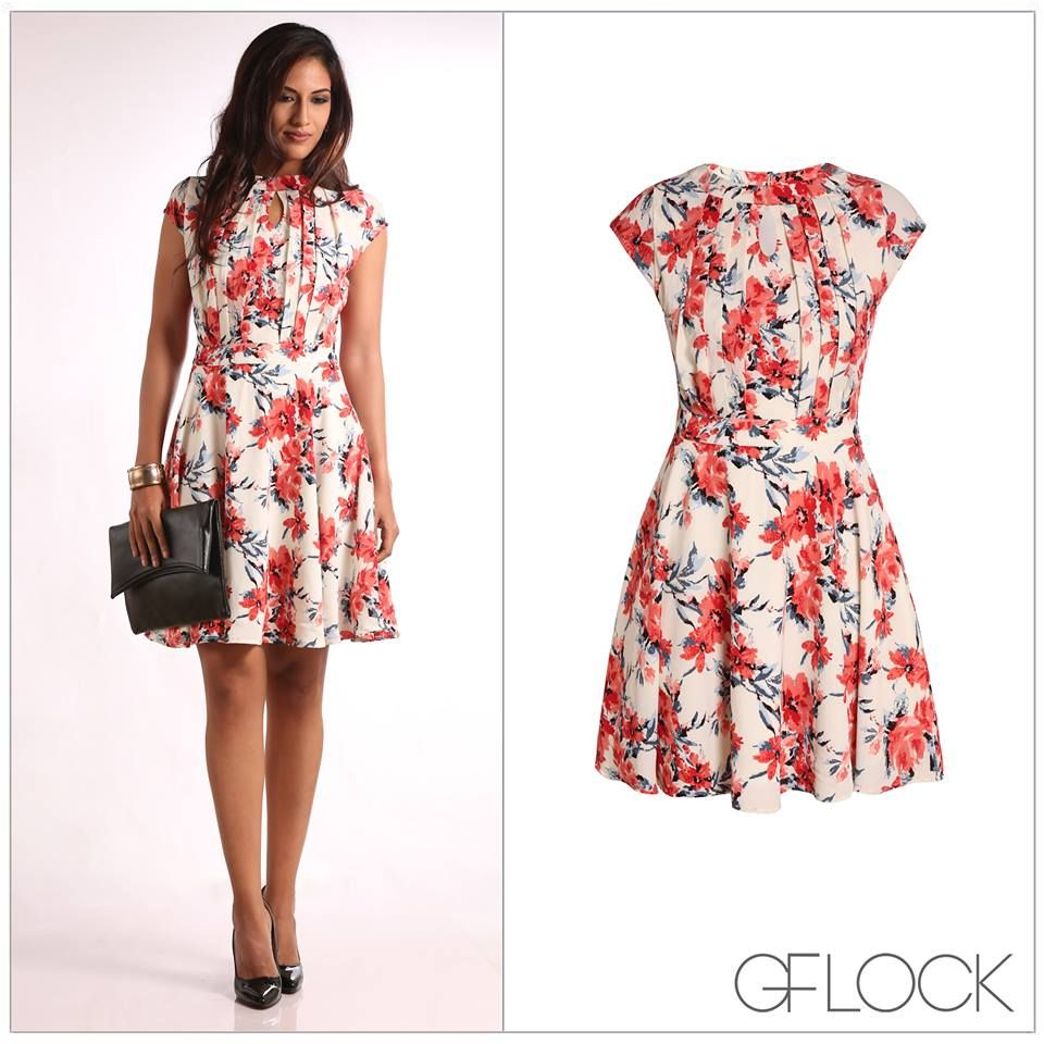 Printed Floral Dress From From GFLOCK,Sri Lanka