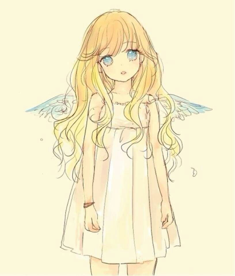 Image Result For How To Draw The Blond Hair On Roblox Anime Easy Anime Angel Girl Anime Chibi Anime Angel